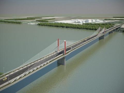 Elkezdődött a Kalocsa-Paks Duna-híd, a Duna huszadik magyarországi hídjának építése